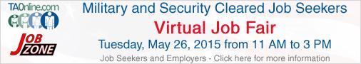 Military security clearance virutal job fair