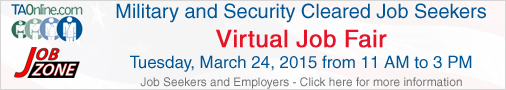 Military security clearance virutal job fair